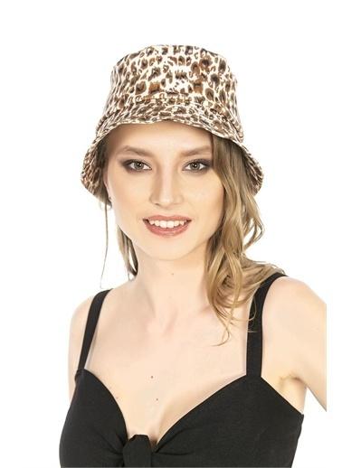 Y-London 14019 Leopar Desenli Bucket Şapka Renkli